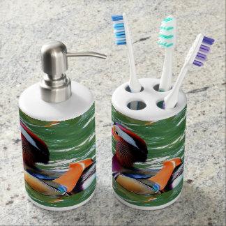 Ein Tier dargestelltes Bad-Set Zahnbürstenbehälter