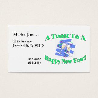 Ein Toast des neuen Jahres Visitenkarte