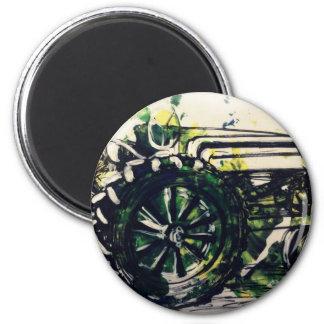 Ein Traktor! Runder Magnet 5,7 Cm