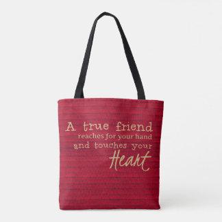 Ein wahrer Freund - eine Freundschafts-Tasche -