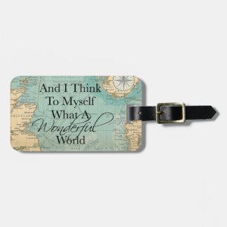 Ein was für wunderbarer Weltgepäck-Umbau - Vintage Kofferanhänger