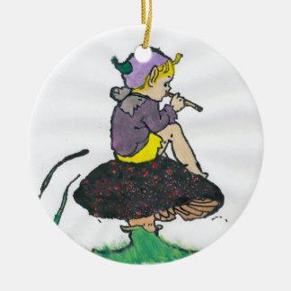 ~ ein Weihnachtself-Fraktal ~ Keramik Ornament