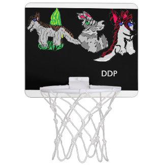 Ein zwei drei Wölfe Mini Basketball Netz