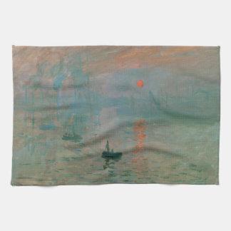 Eindruck, Soleil Levant durch Claude Monet 1872 Handtuch