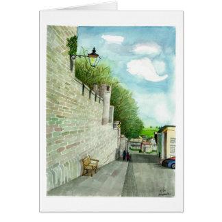 Eine alte Straße in Irland Grußkarte