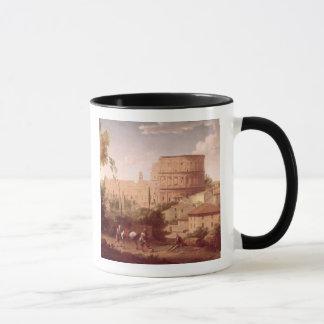 Eine Ansicht des Colosseum mit einem Reisenden, Tasse
