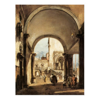 Eine Architekturlaune durch Francesco Guardi Postkarte
