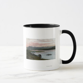 Eine Columbia River Riverboat-Szene Tasse