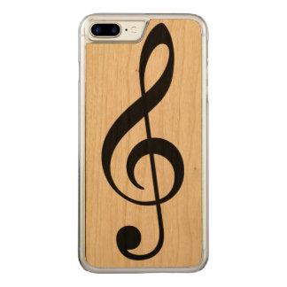 eine einfache schwarze musikalische Anmerkung Carved iPhone 8 Plus/7 Plus Hülle