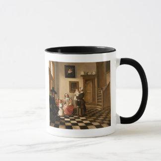 Eine Familie in einem Innenraum Tasse