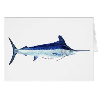 Eine Fischkarte des weißen Speerfisches Grußkarte