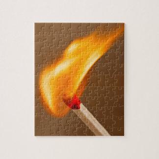 Eine Flamme Feuer Puzzle