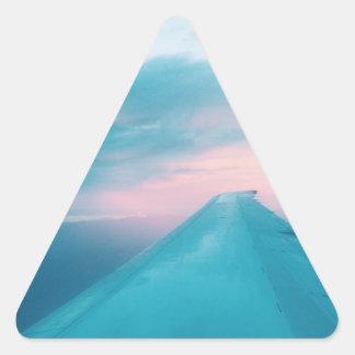 Eine Flugzeug-Ansicht Dreiecks-Aufkleber