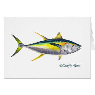 Eine Gelbflossen-Thunfischgrußkarte Karten
