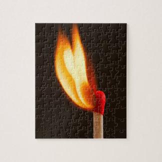 Eine glühende Flamme Puzzle