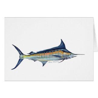 Eine Grußkarte des blauen Speerfisches