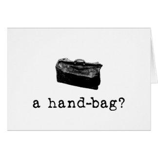 Eine Handtasche? Karte