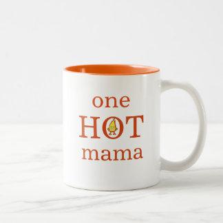 Eine HEISSE Mutter-Tasse Zweifarbige Tasse