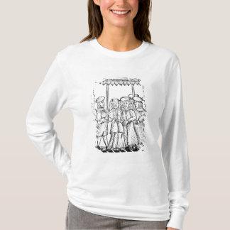 Eine Illustration einer jüdischen Hochzeit T-Shirt