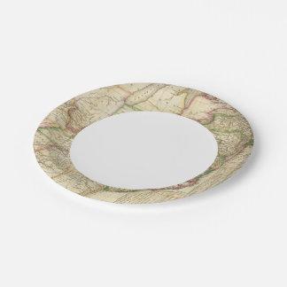 Eine Karte der Straßen, der Kanäle und des Pappteller 17,8 Cm