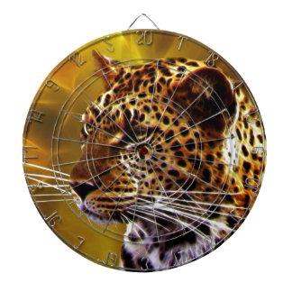 Eine Leopard Position Dartscheibe