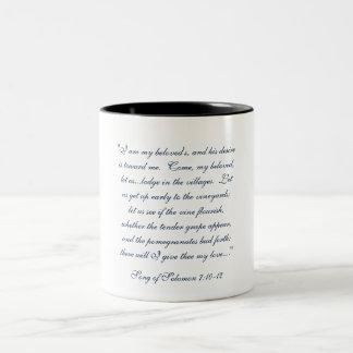 """""""Eine Liebe-Tasse für ihn"""" Kaffee-Tasse Zweifarbige Tasse"""
