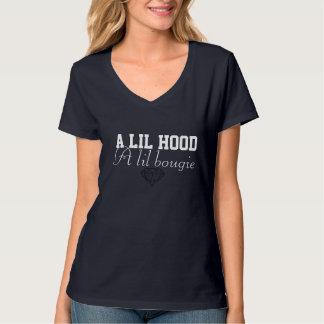 eine lil Haube ein lil Bougie T-Shirt