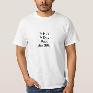Eine Nabe ein Tag T-Shirt