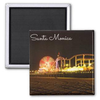 Eine Nacht in Santa Monica Kalifornien Quadratischer Magnet