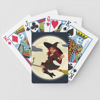 Eine niedliche Hexe Spielkarten