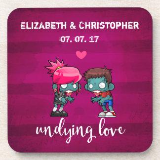 Eine niedliche Wedding Zombie-Paar-Undying Liebe Untersetzer