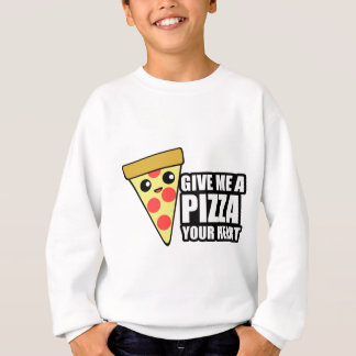 Eine Pizza Ihr Herz Sweatshirt