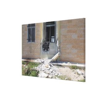 Eine raketenangetriebene Granate Gespannte Galeriedrucke