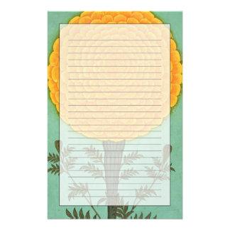Eine Ringelblume, vom kleinen Clive Album (w/c auf Briefpapier