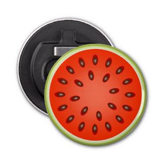 Eine Scheibe der roten Wassermelone Flaschenöffner