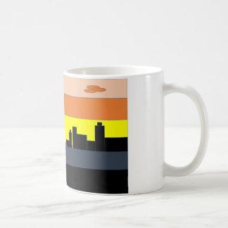 Eine Stadt auf dem bunten Horizont Tasse