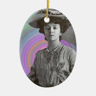 Eine starke Frau Vintage Ovales Keramik Ornament