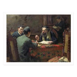 Eine theologische Debatte, 1888 Postkarte