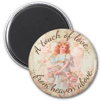 Eine Touch der Liebe vom Himmel oben Runder Magnet 5,1 Cm