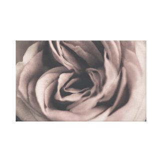 Eine Vintage Rose Leinwanddruck