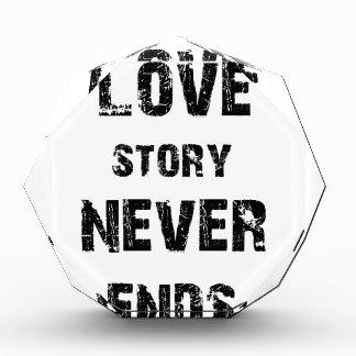 eine wahre Liebegeschichte beendet nie Acryl Auszeichnung