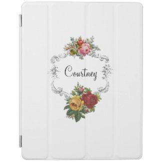 Einfach elegante Vintage Rosen und gravierter iPad Hülle