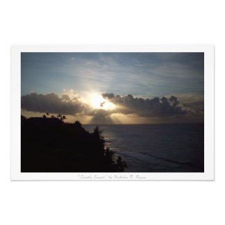 """Einfach Sonnenuntergang-"" Kauai-Natur-Dekor Photographie"