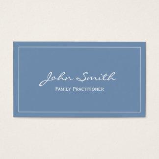 Einfache blaue Arzt-Visitenkarte Visitenkarten