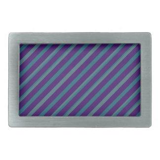 Einfache blaue lila Streifen-Rechteck-Schnalle Rechteckige Gürtelschnallen