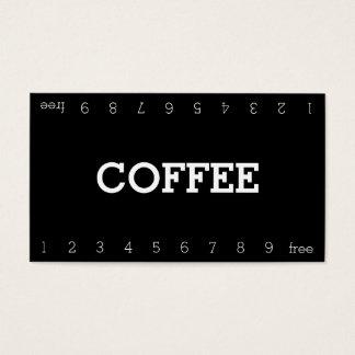 Einfache doppelte Zahl-Loyalitäts-Kaffee-Lochkarte Visitenkarten