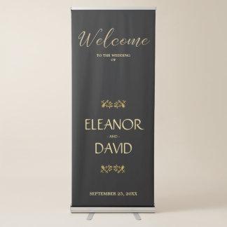 Einfache editable schwarze ausziehbarer banner