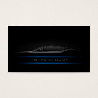 Einfache einfache Blue Line-Auto-Visitenkarte Visitenkarten