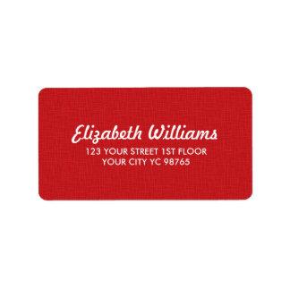 Einfache elegante Beschaffenheits-roter Aufkleber Adressetiketten