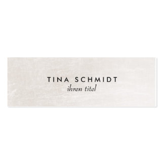 Einfache elegante Imitat Shimmery Weiße Mini-Visitenkarten